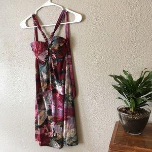 New silky halter dress